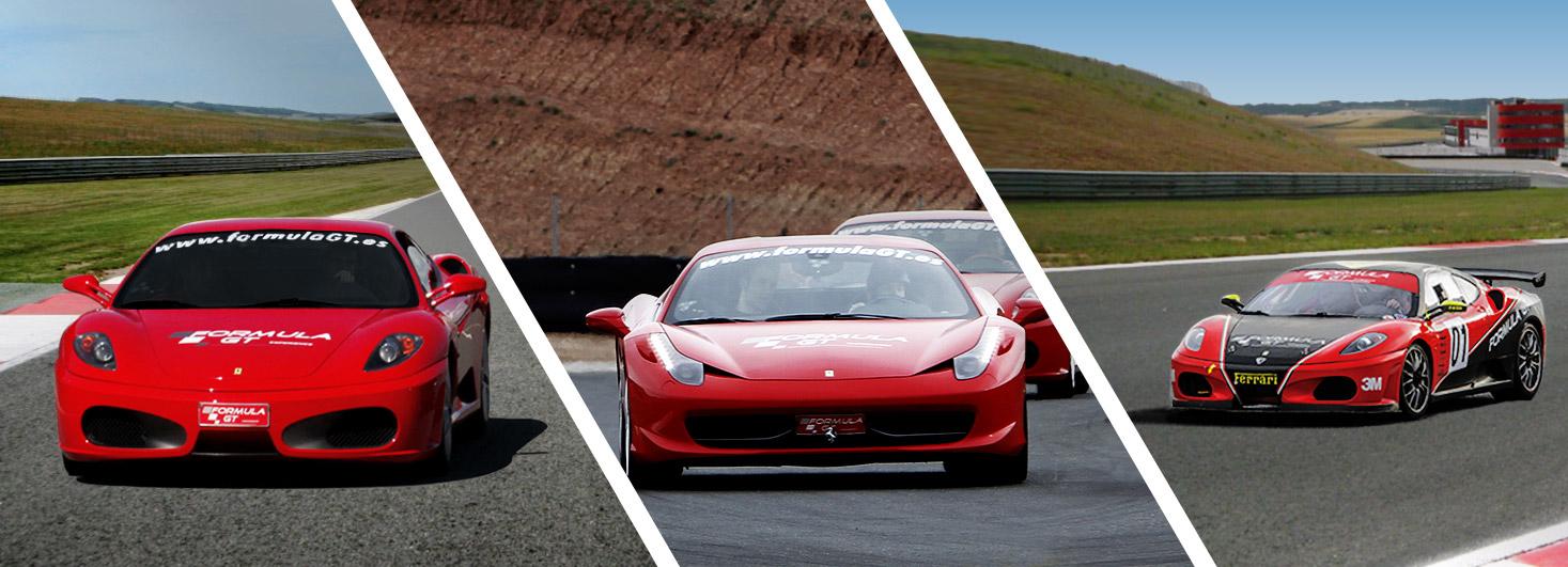 Conducir un Ferrari F430, un Ferrari 458 Italia y un Ferrari F430 GTS en el circuito Los Arcos(Navarra)